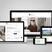 The Townhouse website shown on desktip, laptop, tablet and phone